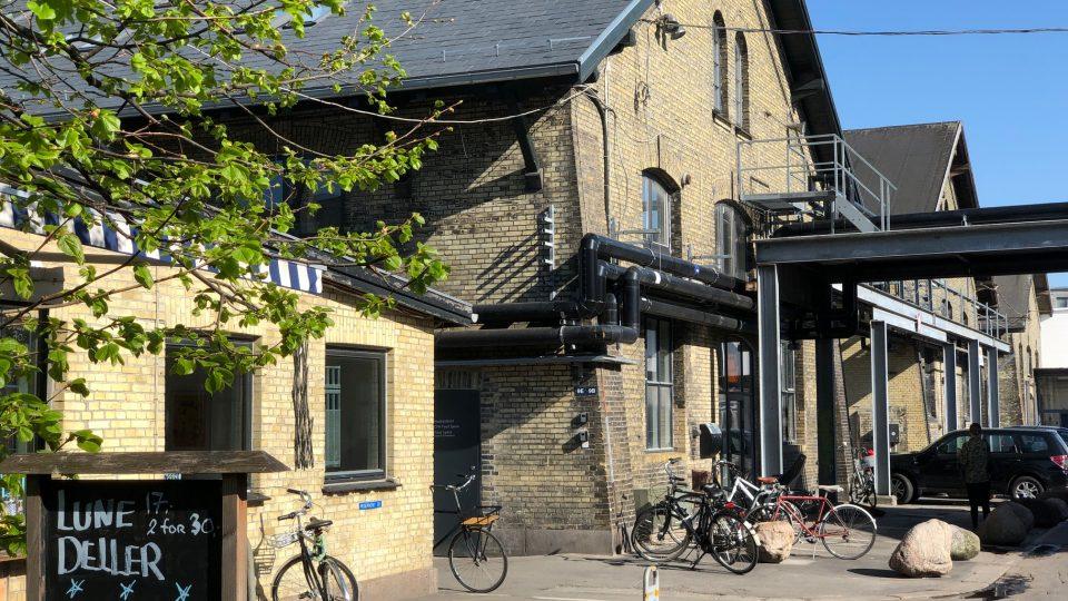 Indgangen til Cph Food Space hvor Rådet for sund mad bor
