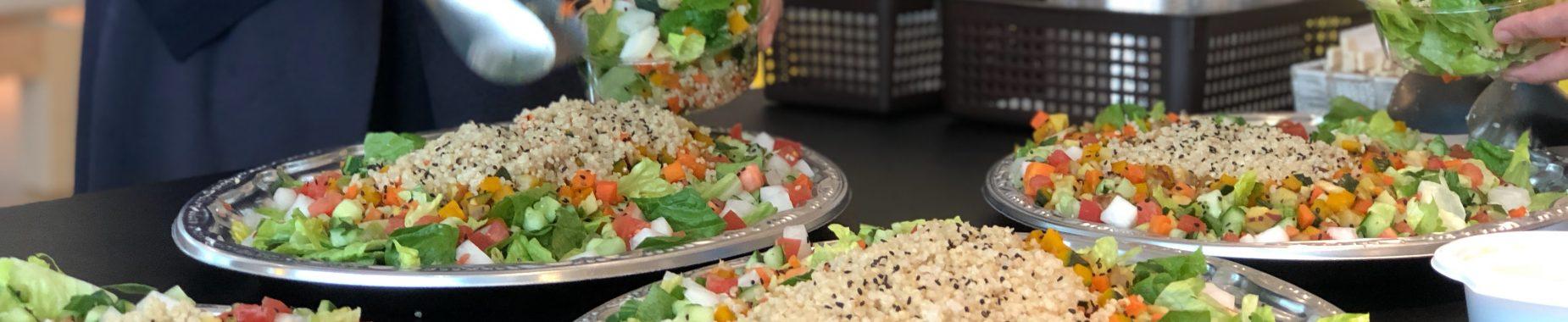 Salat i en sund kantine