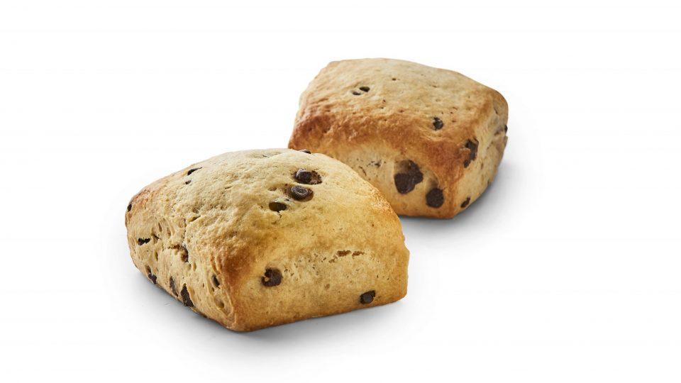 To scones til at illustrere at vi skal sige ja tak til lidt mindre